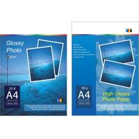 Papel Fotografico Glossy -super A 3 + Bifaz 220 Gs 20 Hojas