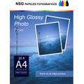 Papel Fotografico Glossy Bifaz-a 3 Más -220 Grs.100 Hojas