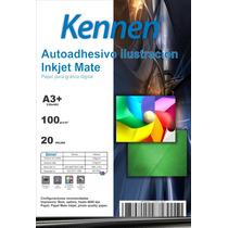 Papel Autoadhesivo Mate A3+ Inkjet 100 Grs 20 Hojas Kennen