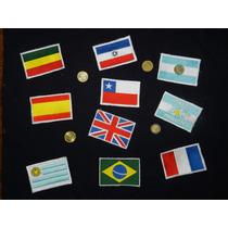 Parches Apliques Banderas Bordadas Del Mundo 9x6 Cm