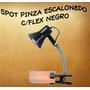 Aplique Spot Pinza Flexible Escalonado Negro