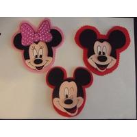 Apliques De Mickey Y Minnie En Goma Eva X 10 U.
