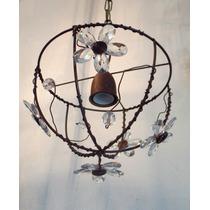 Lampara Colgante P/ Techo Iluminacion Vintage Oxido Caireles