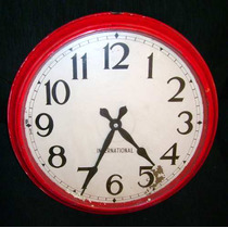 Antiguo Raro Reloj De Pared International 47,5 Cm Diametro