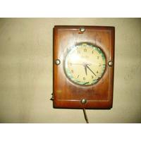 Hermoso Y Antiguo Reloj De Pared A Bobina Electrico Andando