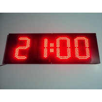 Reloj De Pared Temperatura Cartel Led Digital Gigante