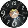 Reloj Artesanal En Disco De Vinilo Diseño Unico Calado Envio