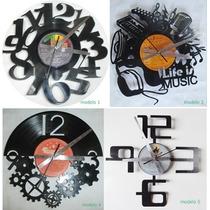 Relojes Artesanales Calados En Discos De Vinilo Originales