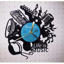 Reloj De Disco De Vinilo Regalo Diseño Original