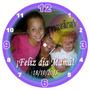 Regalo Reloj 20cm Con Foto Personalizado
