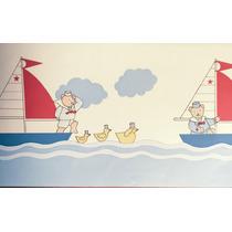 Guarda Decorativa Vinilizada X 5 Mts -infantil - Barcos