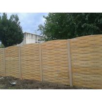 Cercos Premoldeados Placas Pared Tapial Muro Simil Madera