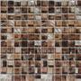 Venecita Malla Mosaico De Vidrio 30x30 Materia Chocolate