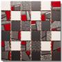 Guarda Malla Mosaico Ceramicos 30x30 Random Rojo