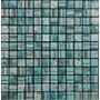 Venecita Malla Mosaico De Vidrio 30x30 Broc Aqua