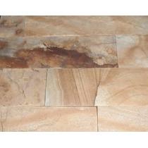 Piedra Revestimiento Tipo Mar Del Plata Amarilla Pared Ext/i