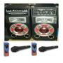Parlantes X 2 300w Potencia Control Fm Usb Sd + 2 Mic Oca