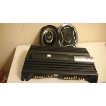 Potencia 600wx4 Sony + Parlantes 6x9 Pioneer Impecables