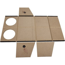 Metra - Caja De Subwoofer Doble Sellada De 12 - Carbón