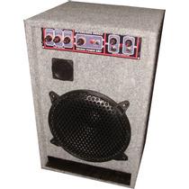 Bafle Amplificador Con Entradas Para 2 Mic Y Pc Ó Mp3