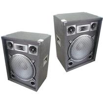2 Bafles Potenciados Dancis C/ Amplificador Entradas Rca