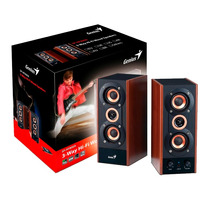 Parlantes Genius 2.0 Sp Hf800a Pc Mp3 Potenciados 20w 3 Vias