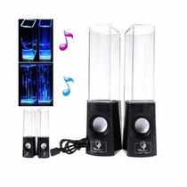 Parlantes Agua Danzante Audioritmica Y Luces Led Celu Tablet