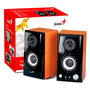 Parlantes Pc Genius 2.0 Sp Hf-500a 14w Madera Potenciado Mp3