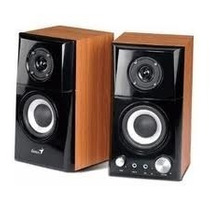 Parlantes Genius Sp Hf500a Mp3 14watts Woofer Madera Oempc
