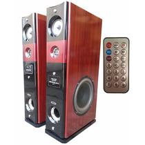 Juego Bafles Potenciado 1200w Usb/sd-mic Karaoke Amplificado