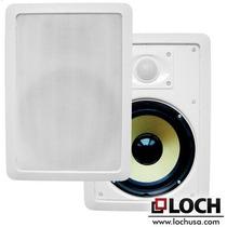Parlantes Loch Sw-65 Pro 300watts De Embutir En Pared Blanco