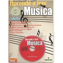 Libro Metodo Enseñanza De Lectura Musical Con Cd Envios