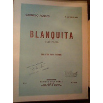 Partitura Guitarra Blanquita (vals Fácil) Carmelo Rizuti