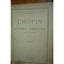 Partitura Piano Chopin Estudios Completos Piano
