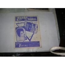 Partitura 1963 Zamba De Abril Chango Rodriguez C. Villafañe