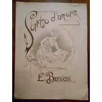 Partitura Antigua Sorriso D Amore Notturnino De Becucci