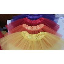 Tutu Baile Danza Patin De Tull Con Raso Todos Los Colores