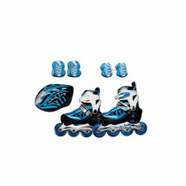 Rollers Extensibles Kit De Protectores Y Casco Cougar 851ps