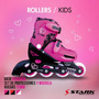 Rollers Stark Rosa Kit Flowers Bolso Protecciones