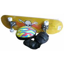 Skate+casco+coderas+rodilleras Pvc-aluminio / Open-toys Avel