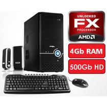Pc Computadora Diseño Juegos Fx X4 4gb 500gb - En La Plata