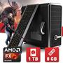 Pc Gamer Fx X6 Cpu Fx-6300 8gb Ddr3 1866 Hd 1tb Wd Gab