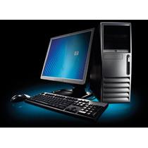 Hp Core 2 Duo 2 Gb Ram 160gb Monitor De 17 Un Caño