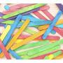 Palito De Helado Colores Surtidos X 50 Unidades