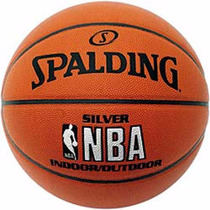 Pelota Basquet Spalding Silver Indoor / Out Nba Cuero Comp 7