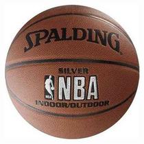 Pelota De Basquet Spalding Silver Indoor - Outdoor Nº 7 Pro