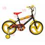Bicicleta Cars Disney Rodado 16 Cubierta Eva Lelab