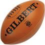 Pelota De Rugby Gilbert Nº 5 Cuero Natural Vintage Original