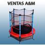 Mini Trampolin Cama Elastica Con Red De Proteccion Nuevas!