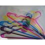 Perchas De Plastico Acrilico Pack 50 Unidades Ashima
